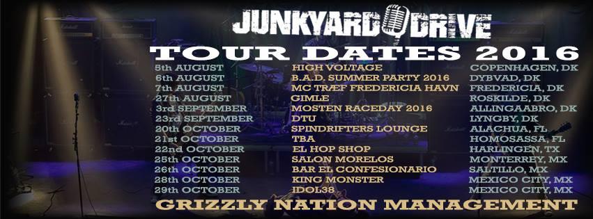 Junkyard Drive tour efterår 2016