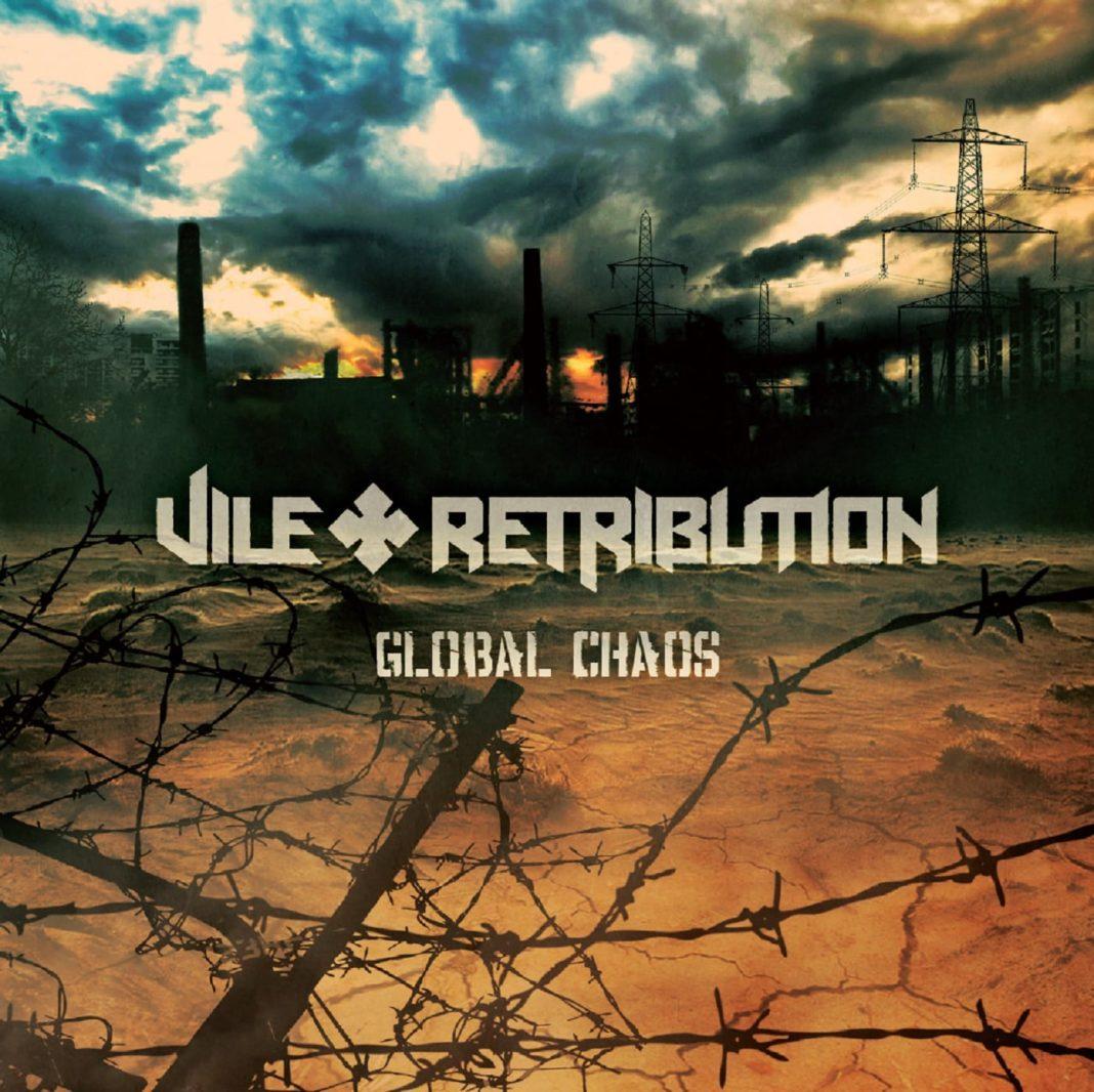 Bandet Vile Retribution med coveret til deres album Global Chaos.